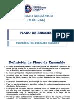 Plano de Ensamble