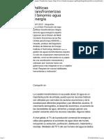 Políticas Transfronterizas Sobre El Binomio Agua Energía