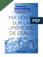 [eBook]Jacques Benveniste - Ma Vérité Sur La 'Mémoire De L'eau' (Homéopathie Médecine Biologie Masaru Emoto).pdf