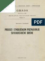 Prilozi etnološkom poznavanju severoistočne Bosne