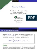 Aula 10 - Teorema de Bayes