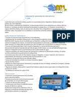 Controlador de Presion Mediante Variador de Frecuencia Speedmatic Master 1305 y 1309