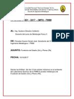 Informe Fundición de Sn Pb)