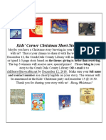 11. November 2018 Kids' Corner Flyer
