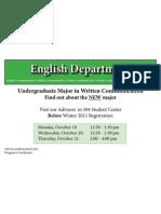 Eastern Michigan University Written Communication Advising Poster