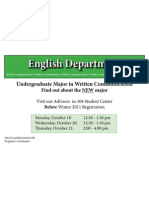 Eastern Michigan University Written Communication Advising Poster