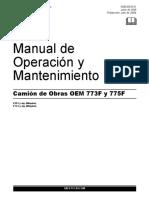 Manual de operación y Mantenimiento 773F, 775F
