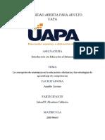 Tarea 5-La Concepción de Enseñanza en La Educación a Distancia y Las Estrategias de Aprendizaje de Competencias