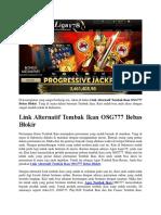 Link Alternatif Tembak Ikan OSG777 Bebas Blokir