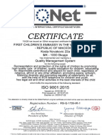 MEGJASI acquired with new ISO 9001:2015 SERTIFICATE valid till 22.07.2020