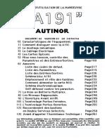 A191 (N10) - Manuel d'Installation (Version Complete) -FR- Du 24 04 94 (7098)