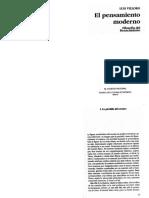 Villoro, L. El Pensamiento Moderno. Pág. 13-34 y 84-91