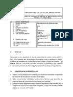 Silabo Proyectos 2018- 2
