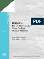 Historia de La EducaciA3n (Edad Antigurna) - Pernil AlarcA3n, Paloma(Author)