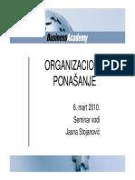 Seminar Organizaciono Ponasanje