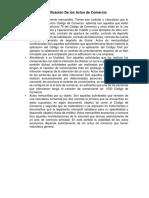 Clasificación De los Actos de Comercio.docx