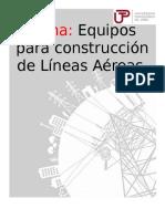 Equipos Para Construccion de Líneas Aéreas