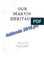 Our Marvin Heritage Addenda 2018 ed Janice R Cramer