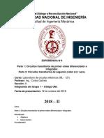 Cuarto Informe de LaboratorioML121 de Circuitos Electricos (Finalizado)