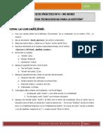 Ejercicio 4 Ms Word Instrucciones