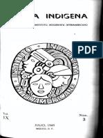 América Indígena, Vol. IX, No. 3, 1949