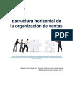 Unidad 2. Recurso 1. Texto. Estructura Horizontal de La Organización de Ventas