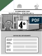 IV Simulacro Matematica-4to