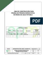 NC as IL01 31 Prueba de Presion Hidrostatica