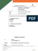 Modelo de Informe - S & G INVESMET CONSUMIDORES Nº 073-2018 - Para Combinar