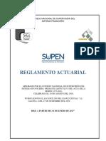 Reglamento actuarial