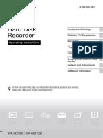 Hard Disk Recorder - SONY