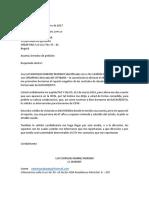 Derecho Peticion Crear Pais Villavicencio 11 de Octubre de 2017