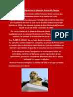 Busto de Bolognesi en La Plaza de Armas de Casma