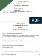 Código Tributario - La Obligación Tributaria