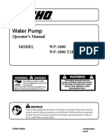 Echo Water Pump Manual WP1000esT1T1E03_030813