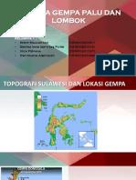 Analisa Gempa Palu dan Lombok