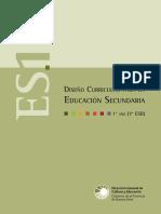 Diseño curricular de educacion Secundaria 1 - argentina