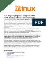 Los Mejores Grupos de Telegram Sobre GNU Linux