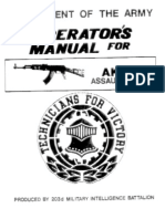 US Army Operators Manual for AK47