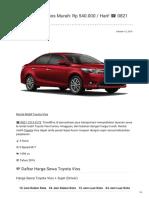 Rental & Sewa Toyota Vios Harian Murah ☎ 0821 1313 0173 TravelBos.id