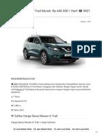 Rental & Sewa Nissan X-Trail Harian Murah ☎ 0821 1313 0173 TravelBos.id