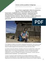 Políticas de Exterminio Contra Pueblos Indígenas