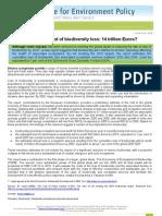 Biodiversity Loss 14 Trillion Euros