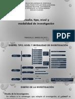 Clase de Diseño Tipo y Modalidad de La Investigación