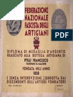 Diploma di Medaglia d'Argento - Francesco Rolli