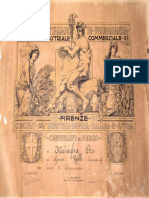 Certificato di Premio - Francesco Rolli