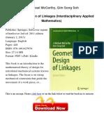 Geometric Design of Linkages j Michael 27006480 (1)