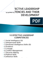 10 Effective Leadership Competencies and Their Development