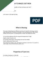 How to Braze Cast Iron