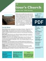 st saviours newsletter - 28 october 2018 bible sunday